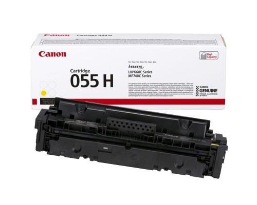 Заправка картриджа Canon 055H Yellow