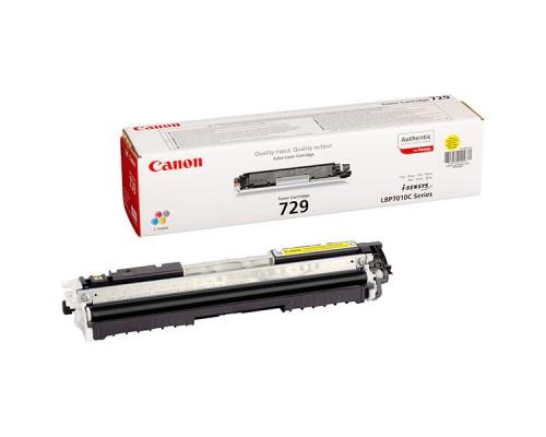 Заправка картриджа Canon Cartridge 729 Yellow