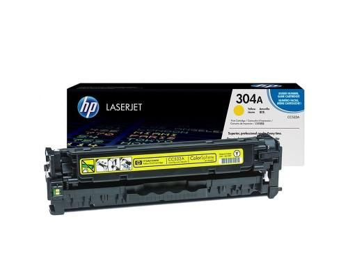 Заправка картриджа HP CC532A (304A)